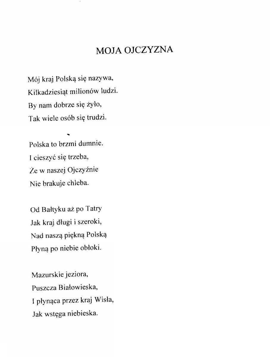Konkurs Poetycki Strofy O Ojczyznie